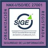 SIGE Organización Registrada ISO 27001